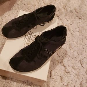 Black Coach Tennis Shoes
